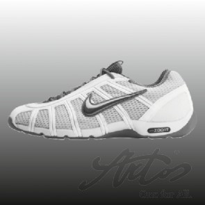 NIKE AIR ZOOM FENCER - WEISS/PLATIN/GRAU