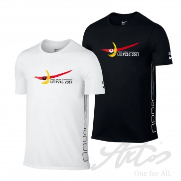 NIKE MEN EVENT SHIRT FOR WORLD FENCING CHAMPIONSHIPS 2017 WITH OFFICIAL LOGO AND NIKE SWOOSH