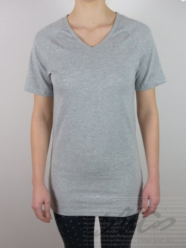 "Short Sleeve Shirt-Silver V-neck ""Jersey"""