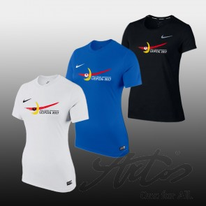 NIKE WOMEN EVENT SHIRT FOR WORLD FENCING CHAMPIONSHIPS 2017 WITH OFFICIAL LOGO AND NIKE SWOOSH